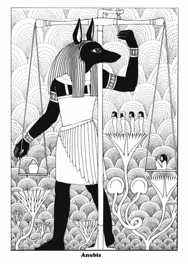 Coloring Page Anubis Img 16355