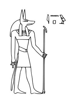Coloring page Anubis