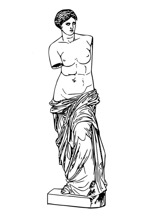 Coloring page Aphrodite
