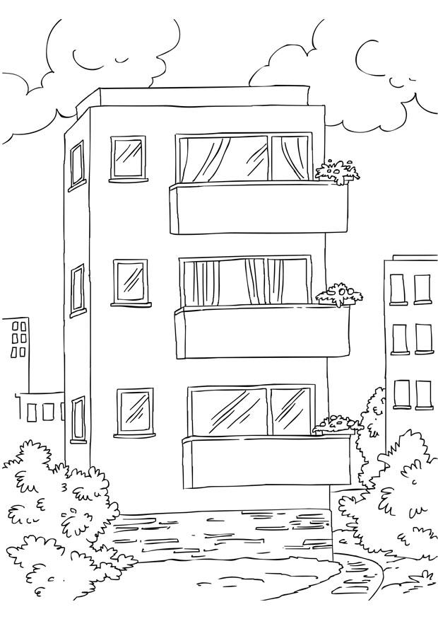 Coloring Page Appartment Img 26228