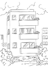 Coloring page appartment