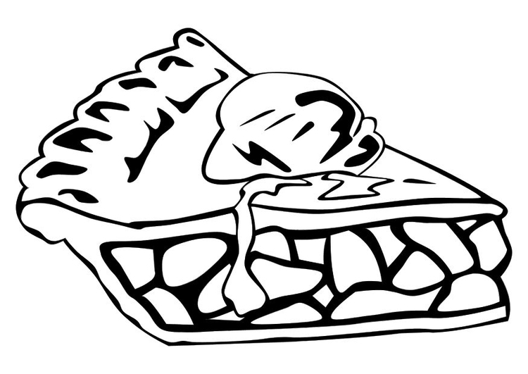 Coloring page apple pie img 10256