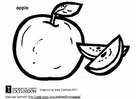 Coloring pages apple