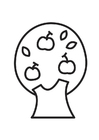 Coloring page Apple Tree