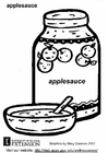 Coloring page applesauce