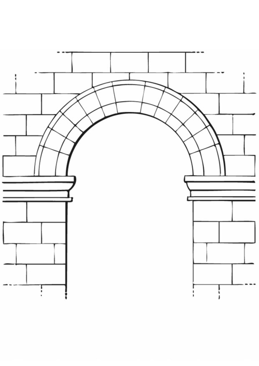 Coloring page arch
