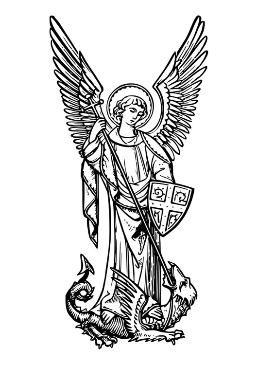 Coloring page archangel Michael