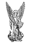 Coloring pages archangel Michael