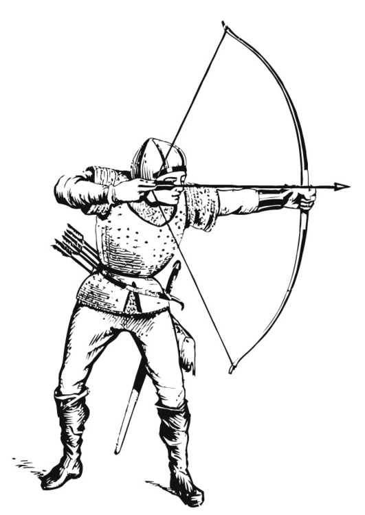 Coloring page archer