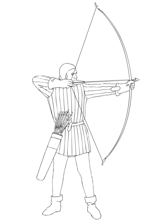 Coloring page archery