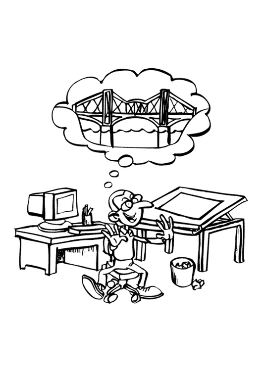 Coloring page architect