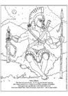Coloring pages Ares, Mars