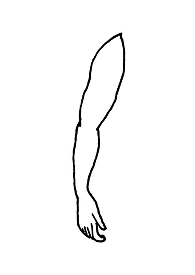 Coloring Page Arm