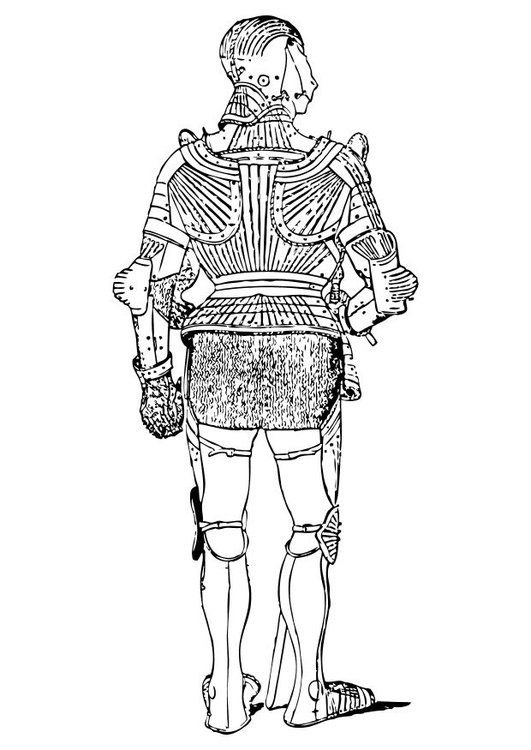 Coloring page armour backview