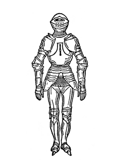 Coloring page armour