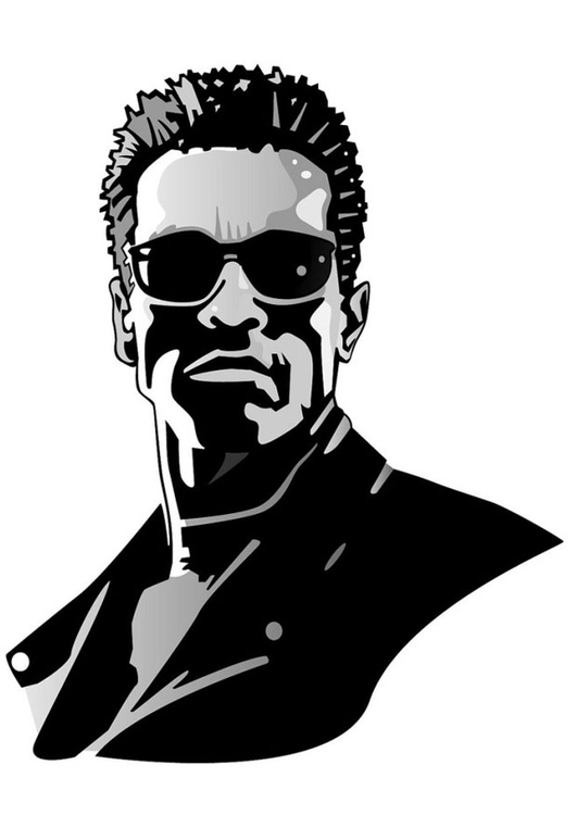 Coloring page Arnold Schwarzenegger