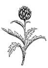 Coloring page artichoke