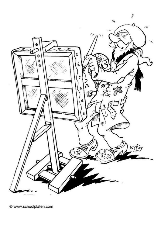 Coloring page artist