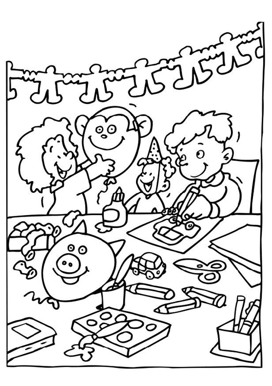 Coloring page arts and crafts