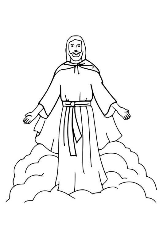 Coloring page Ascension Day