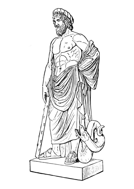 Coloring page Asclepios