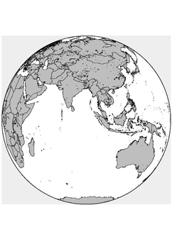 Coloring page Asia