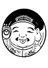 Coloring page Asian figure