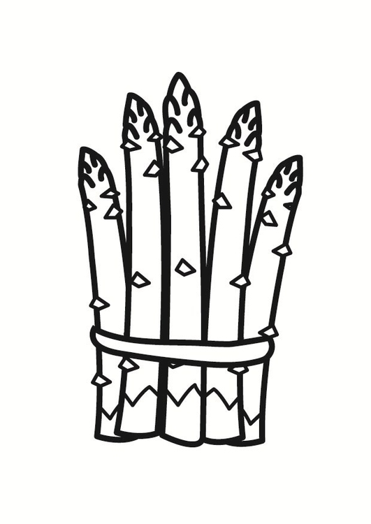 Coloring page asparagus