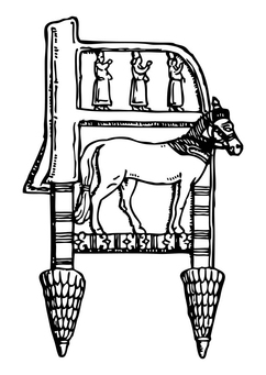 Coloring page Assyrian Chair
