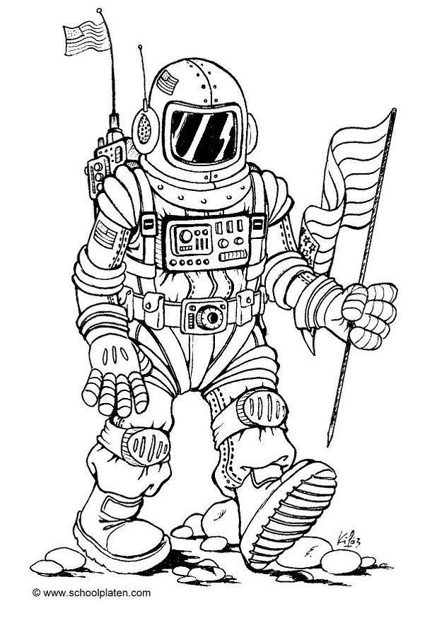 astronauts coloring pages for kids - photo#33