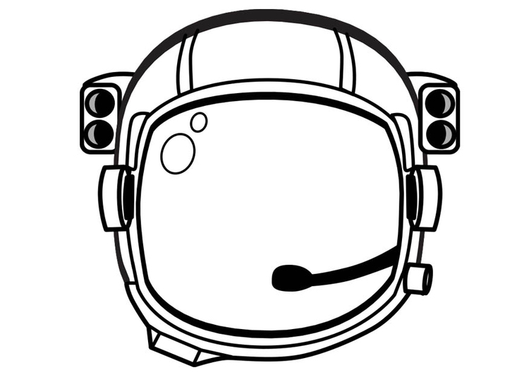 Coloring page Astronaut Helmet