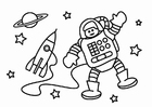 Coloring pages astronaut