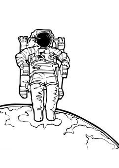 Coloring page astronaut