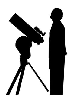 Coloring page astronomer