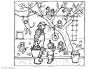 Coloring pages at the zoo