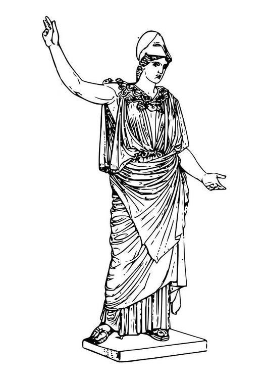 Coloring page Athena