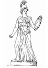 Coloring pages Athena