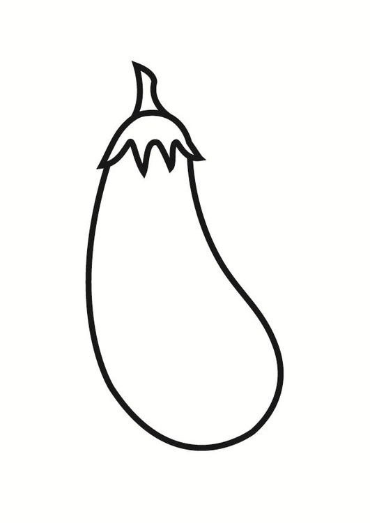 Coloring page aubergine