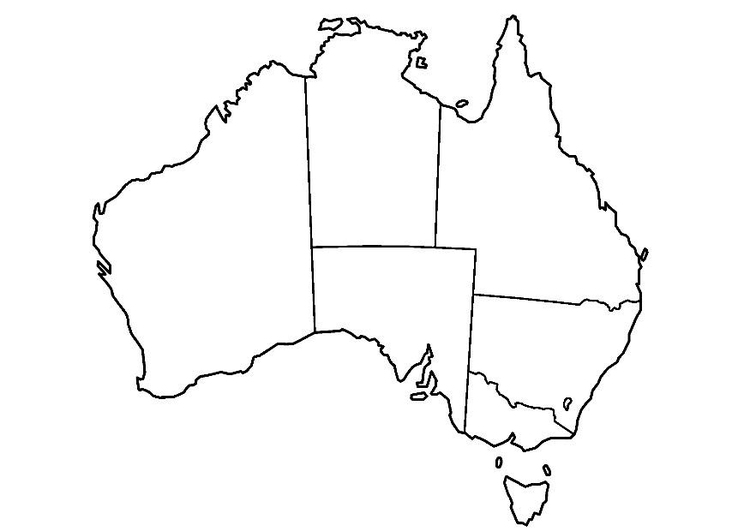 Coloring page Australia