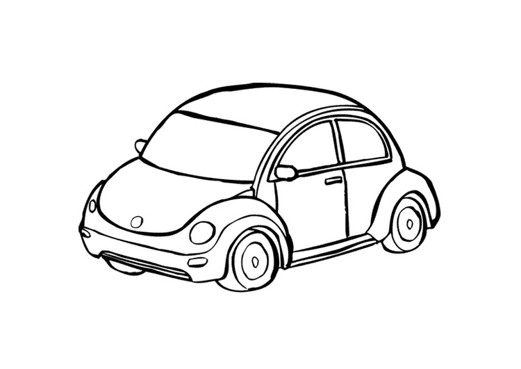 Coloring page automobile