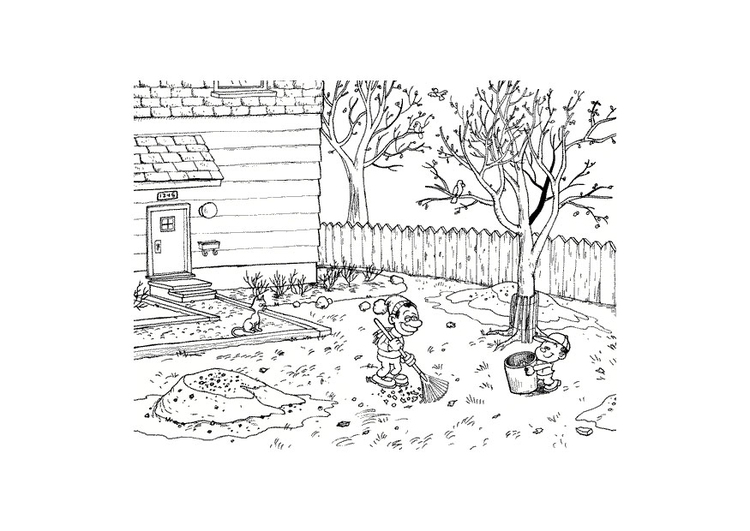 Coloring page autumn