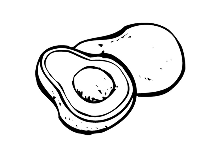 Coloring page avocado