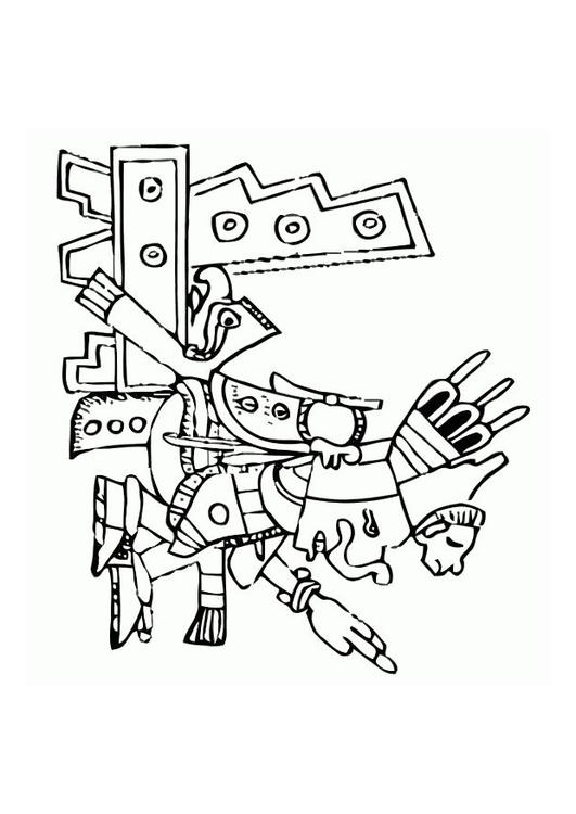 aztec murals coloring pages - photo#7