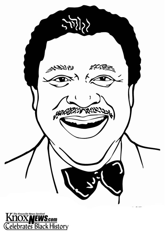 Coloring page B. B. King