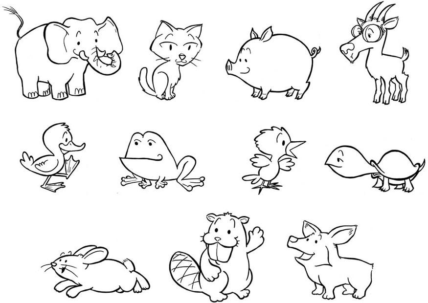 Coloring page baby animals img 24839