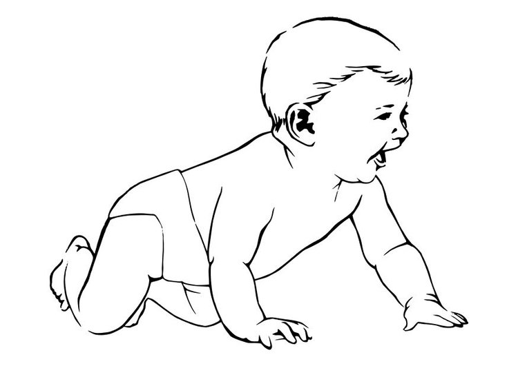 Coloring page baby