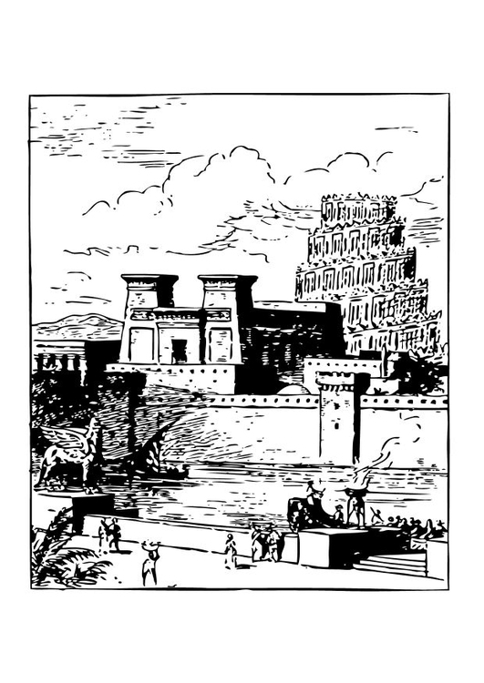 Coloring page Babylon