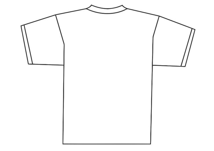 Coloring page back of t-shirt