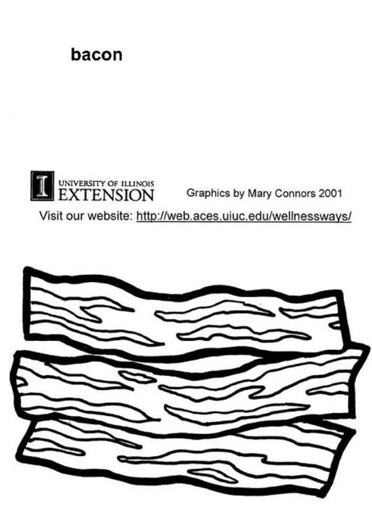 Coloring Page Bacon Free Printable Coloring Pages