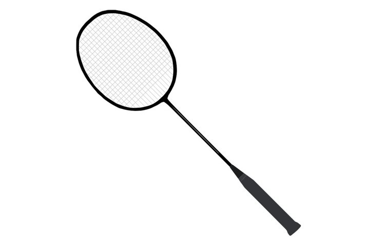 Coloring page badminton racket